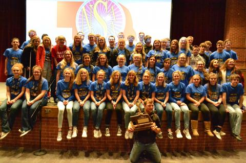 Pictured is the Hartington-Newcastle cast and crew that won the Class C2 State Championship in One Act. It was one of three state championships for the school this year and helped seal the NSAA Cup for Class C.