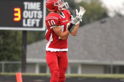Matthew Becker made three catches for 91 yards including a 42-yard touchdown, initially giving Big Red the lead before the Knights fought back to win.