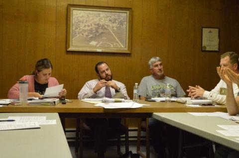 The Randolph Planning & Zoning Committee deliberates over the Special Use Permit for a second medical clinic in town.