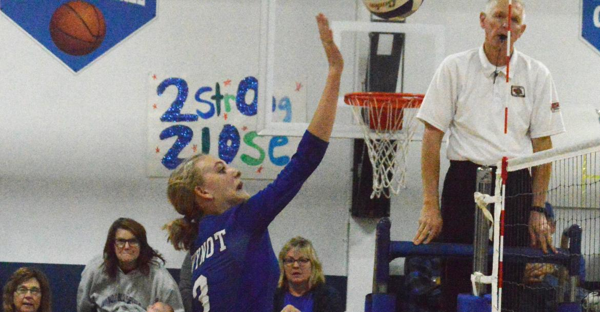 Karley Heimes with a soft touch in the match against Randolph